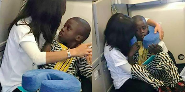 Autistic Boy Comforted By Stranger Transatlantic Flight