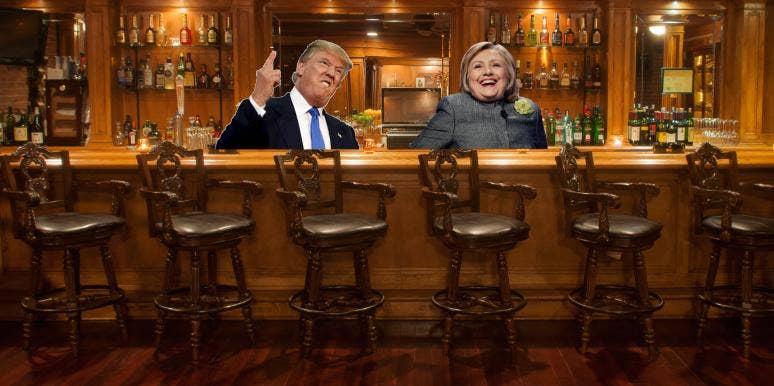 trump hillary cocktails debate