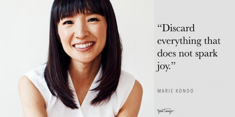 best marie kondo quotes spark joy declutter life tidying up quotes