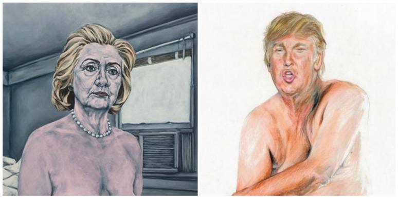 naked hillary naked trump