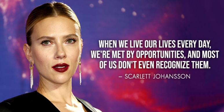 scarlett johansson quotes about how to be happy confident
