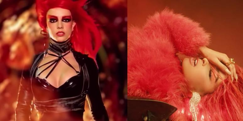 Britney Spears Toxic video side by side with Addison Rae's Obsessed video