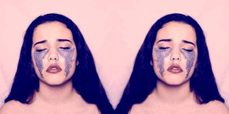 crying glitter