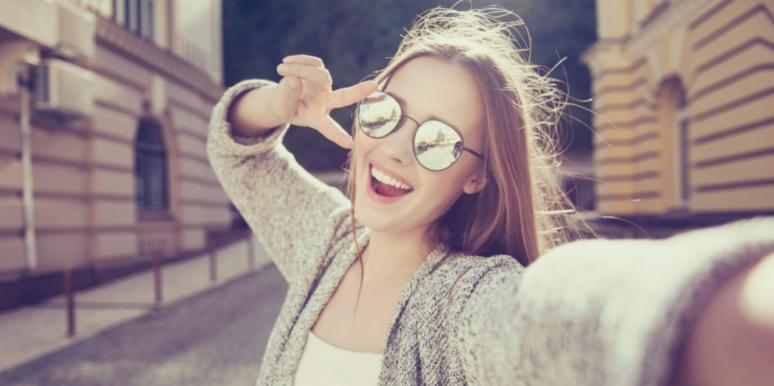smiling woman tired from adrenal fatigue