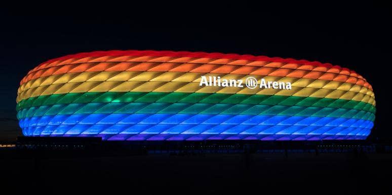 Allianz Arena In LGBT Rainbow Colors