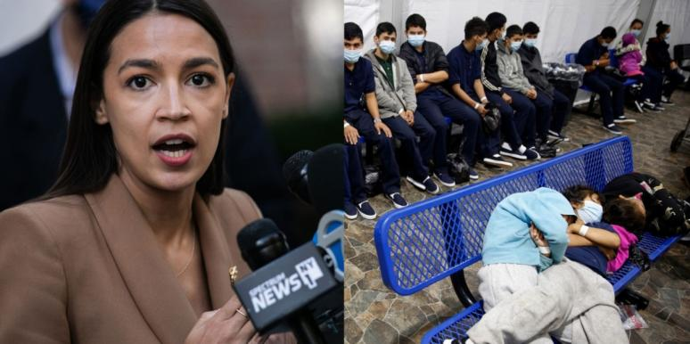 AOC and migrants on the US border