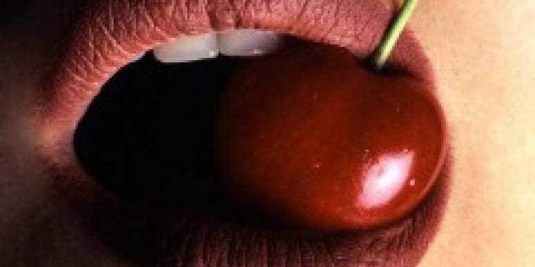 cherry mouth lips teeth