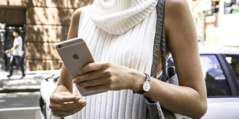 woman iphone