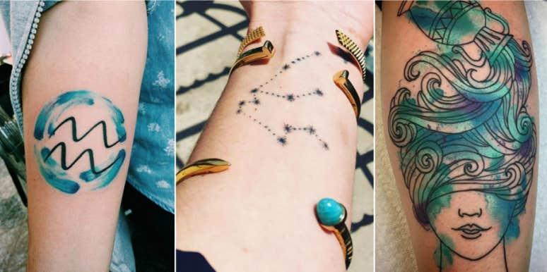 25 Best Aquarius Tattoo Ideas And Zodiac Sign Tattoos With