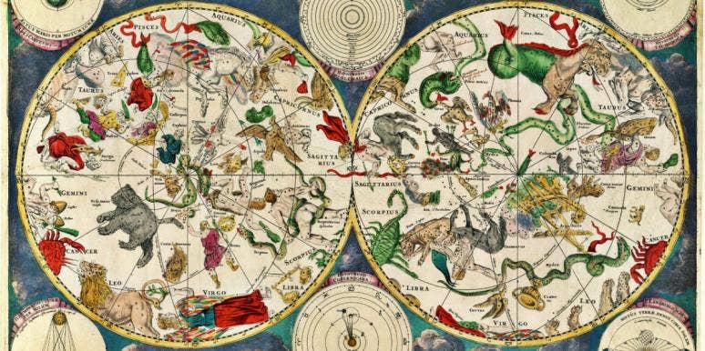 celestial map by the Dutch cartographer Frederik de Wit