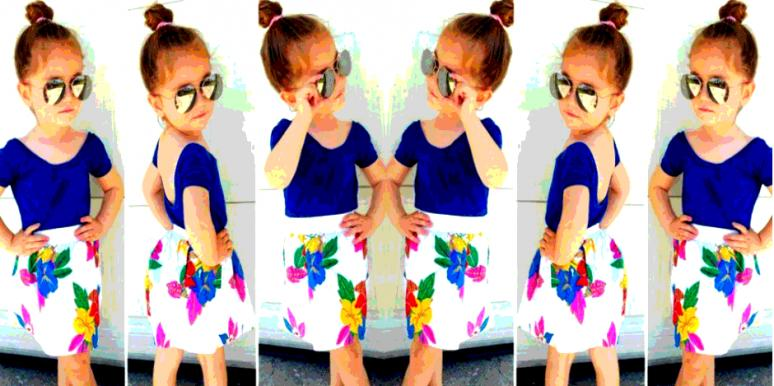little girl modeling