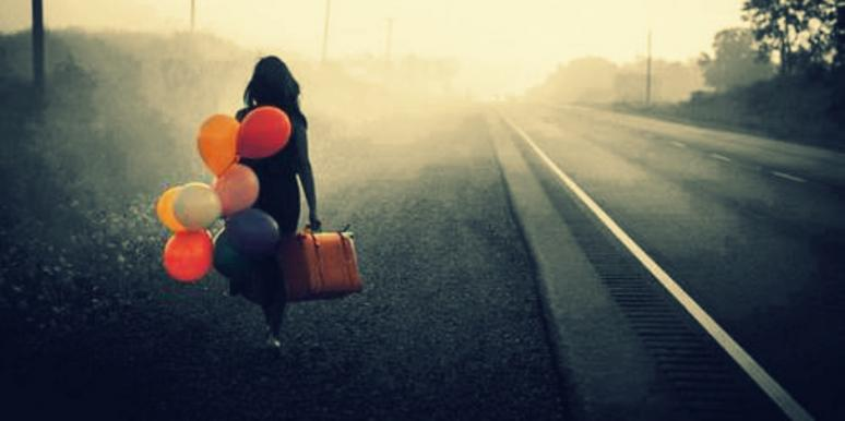 balloons and train tracks