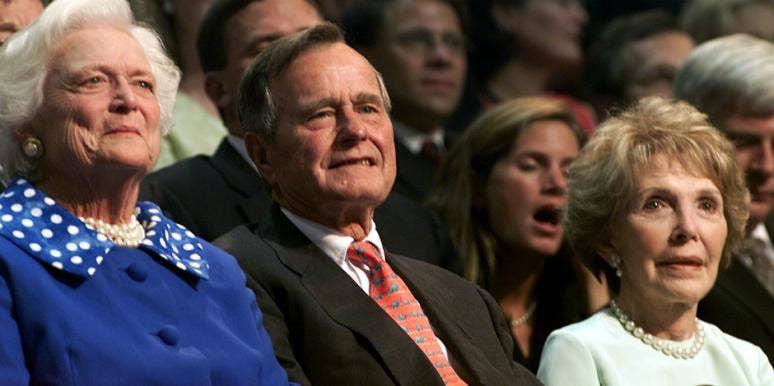 nancy reagan barbara bush feud