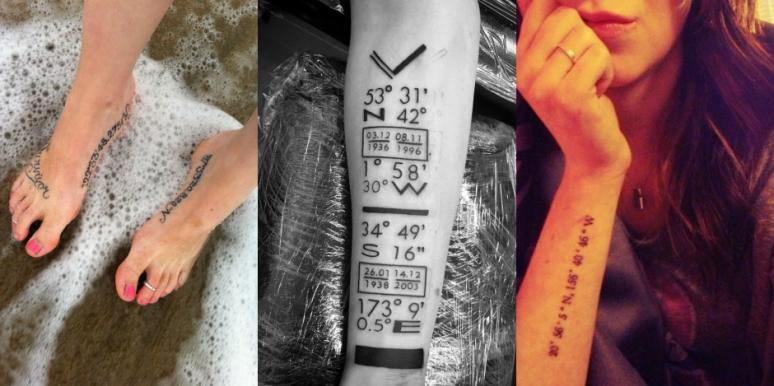 15 Best Places On Your Body For A Coordinates Tattoo | YourTango