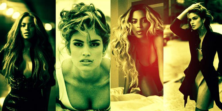 Beyoncé and Cindy Crawford