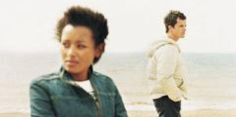 black woman ignore white man beach