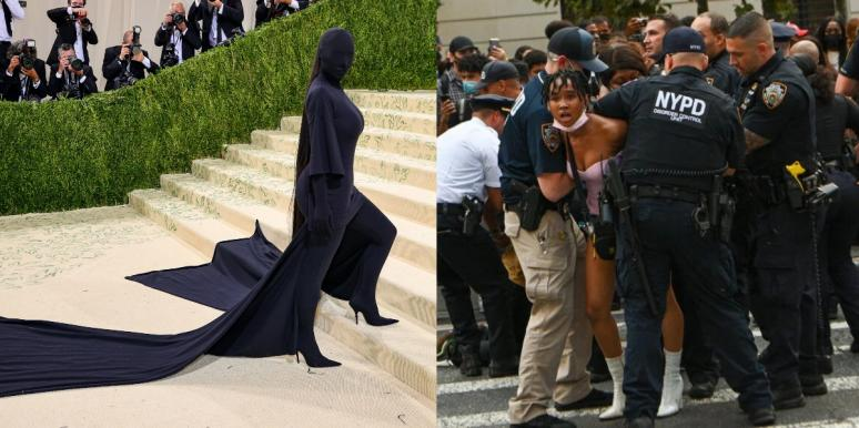BLM protests at the Met Gala