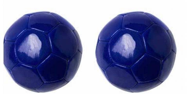 blue soccer balls