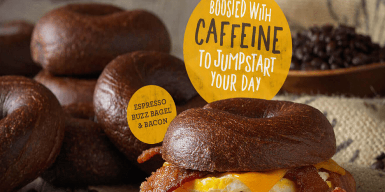 caffeinated bagels