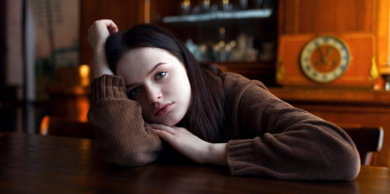 sad woman going through a breakup