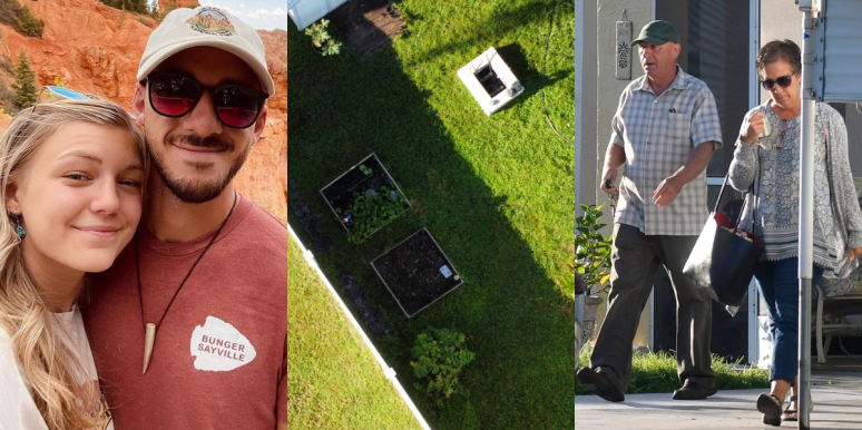 Brian Laundrie and his parents garden