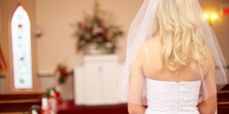 How should you walk down the aisle