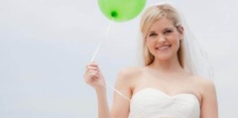 bride green balloon