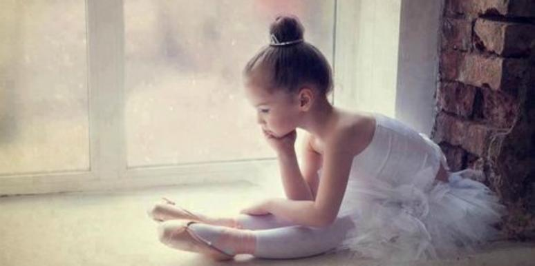 sad, young ballerina