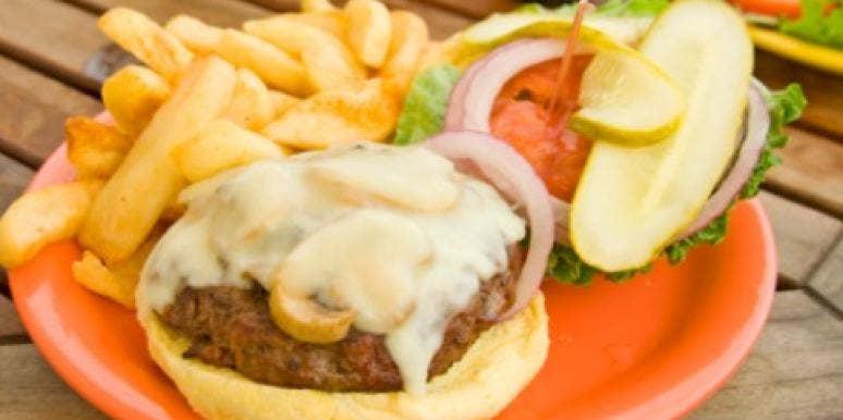 Cheeseburger fries