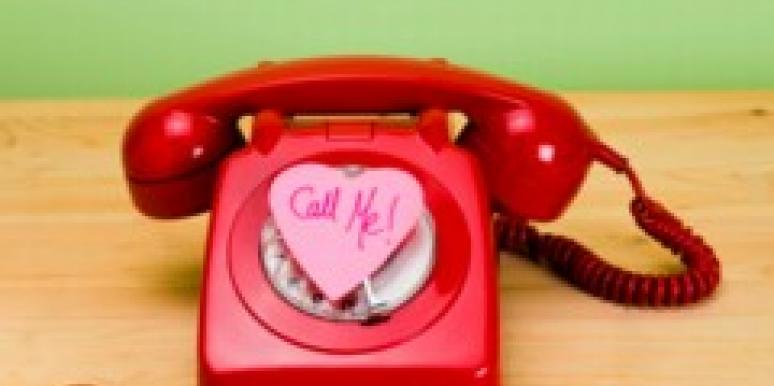 rotary phone with call me heart-shaped post-it