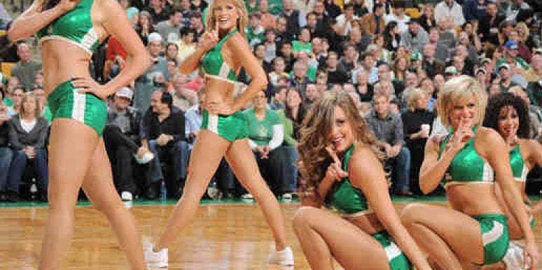 The Celtics cheerleaders