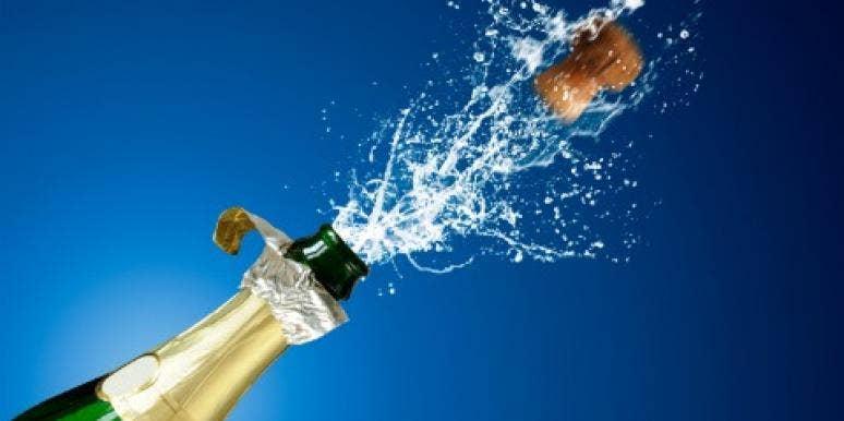 champagne cork pop bottle