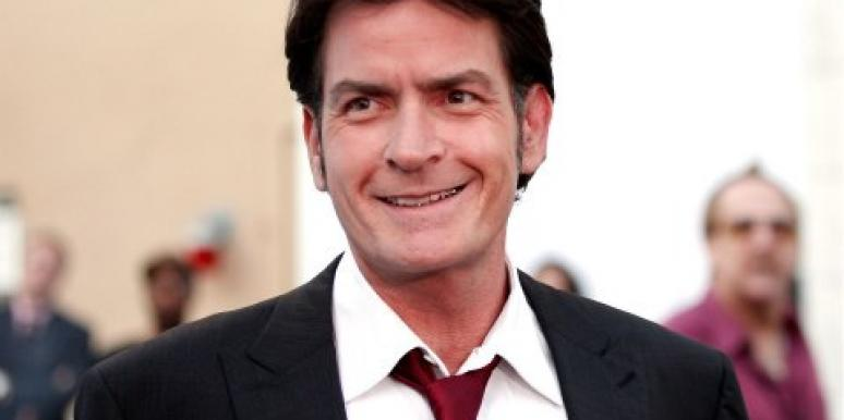 Charlie Sheen smiling