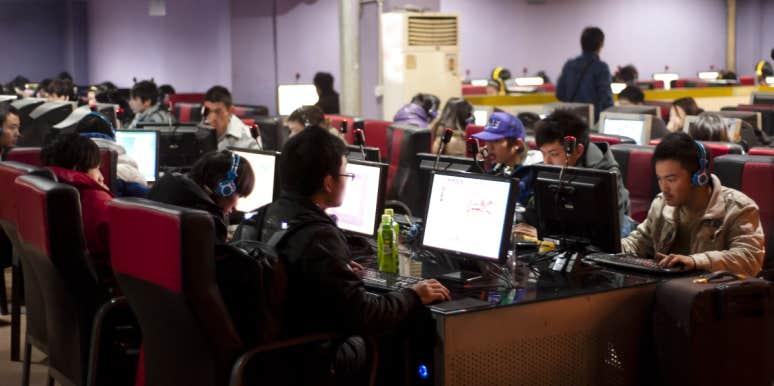 china internet cafe gaming