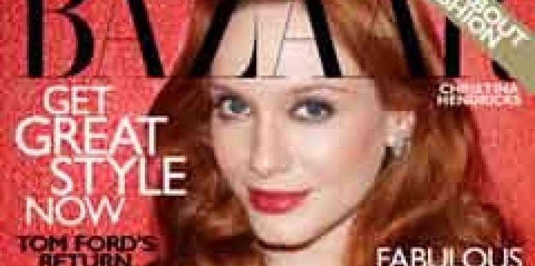 Christina Hendricks Harper's Bazaar Cover