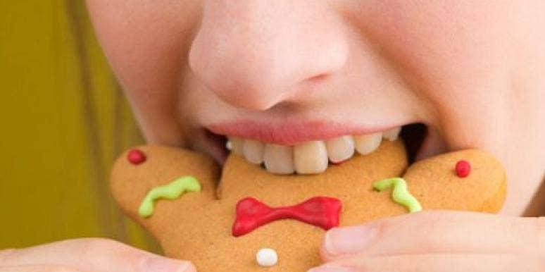Eating Christmas Cookie