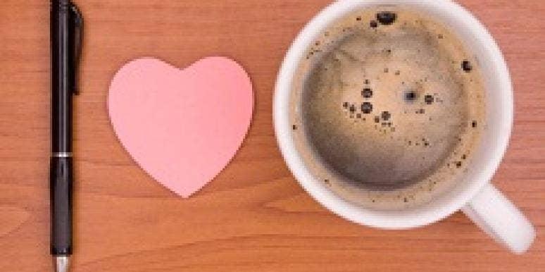 coffee pen heart