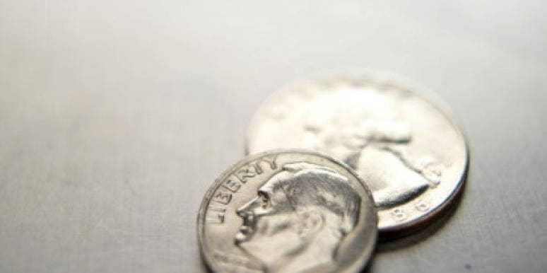 Dime and quarter