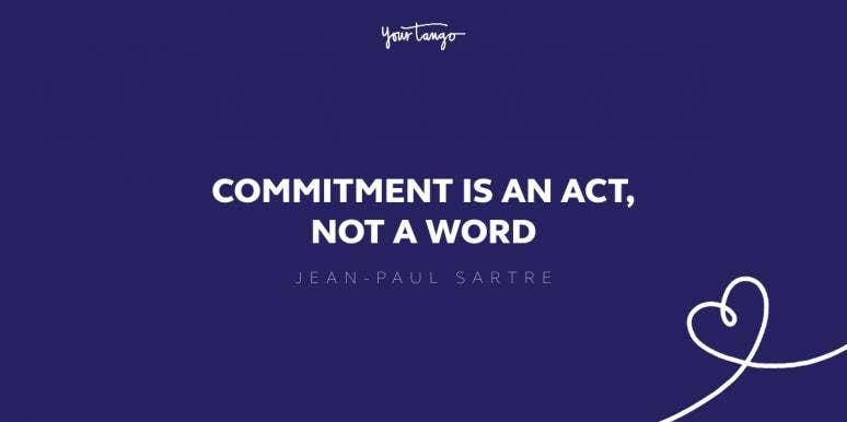 jean-paul sartre commitment quote