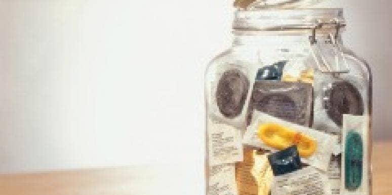 condoms jar