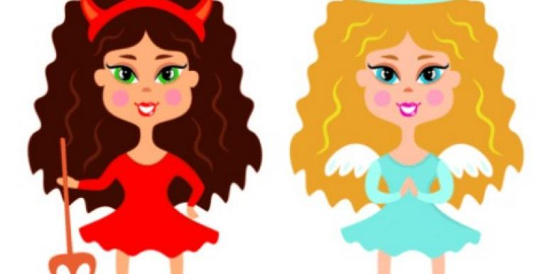 angel devil conscience girls cartoon