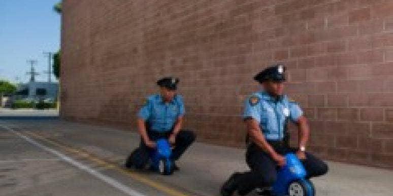 cops on little kid bikes
