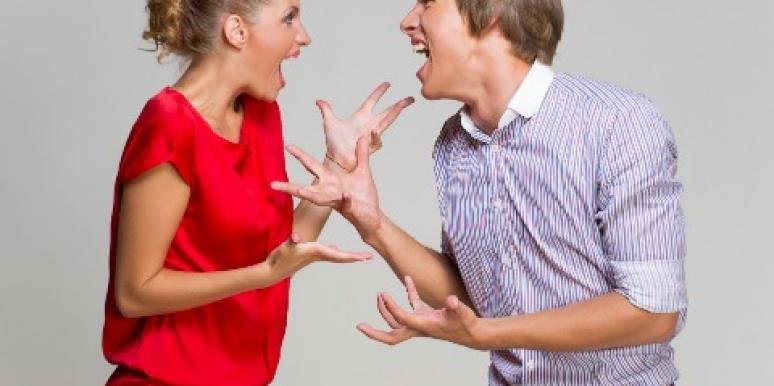 Arguing in a marriage advice