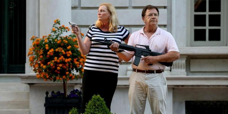 Missouri Couple Point Guns At BLM Protesters