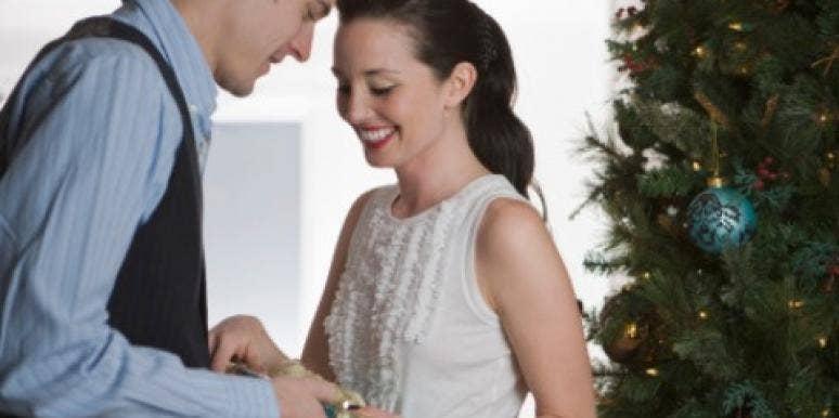 couple holidays christmas