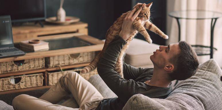 Video Of Kitten Loving On Man Will Hypnotize You With Cuteness