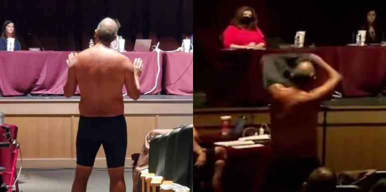 Texas Dad Strips Down At School Meeting Over Mask Mandates
