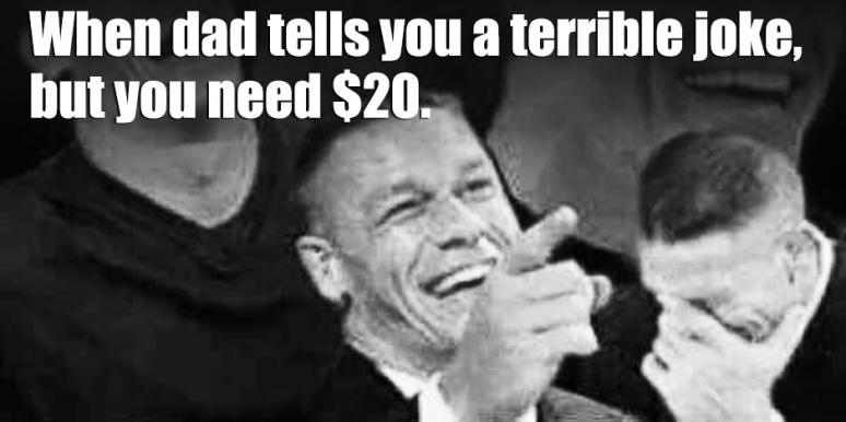 Image of: Dad 30 Funny Memes that Are Scary Accurate To Share With Your 1 Dad For Fathers Day Yourtango 30 Funny Dad Memes And Dad Jokes To Share On Fathers Day 2018