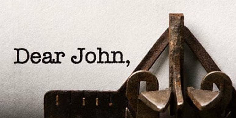 dear john typewriter