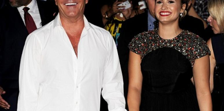 Simon Cowell and Demi Lovato of 'X Factor'